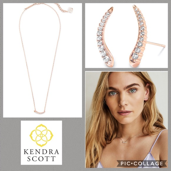 Kendra Scott Jewelry - Kendra Scott Whit Ear Climber & Necklace Rose Gold